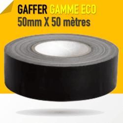 Gaffer technique Noir 1er Prix - 50mm X 50 mètres - Noir - 8224 Gaffers & Adhesifs
