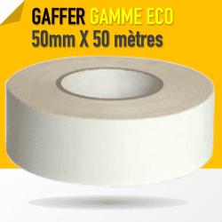 Gaffer technique Blanc 1er Prix - 50mm X 50 mètres - Blanc - 8224 Gaffers & Adhesifs