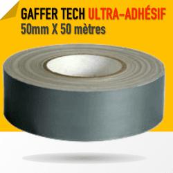 Gaffer Toile Noir PE Super Adhésif - 50mm X 50 m - Grix - 8226 Gaffers & Adhesifs