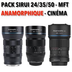 Pack Anamorphique Sirui - 24/35/50mm - Monture MFT Anamorphique