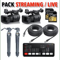 Pack Streaming 2x caméras Sony Z150 + Atem Mini Pro + Accessoires Pack Vidéo
