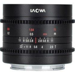 Laowa ciné 9mm T2.9 Zéro-D pour APS-C & Super 35 - Monture Sony (FE) DISPO 3-5 JOURS