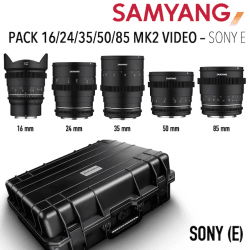 Valise Samyang Ciné Sony (E) - 16 / 24 / 35 / 50 / 85 MK2 VDSLR Monture Sony (E)