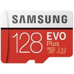 Samsung MB-MC128GA/EU Carte mémoire MicroSD Evo Plus 128G avec adaptateur SD - Rouge/Blanc CARTE MICRO SD