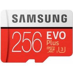Samsung MB-MC256GA/EU Carte mémoire MicroSD Evo Plus 256G avec adaptateur SD - Rouge/Blanc CARTE MICRO SD