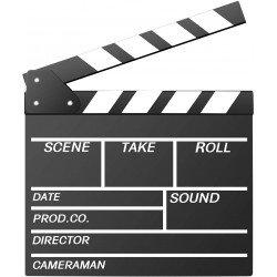 Clap cinéma & Vidéo Professionnel - Noir et Blanc Accessoires Vidéo