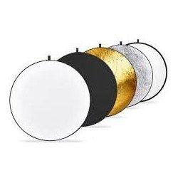 """Réflecteur de Lumière 110cm 43"""" 5 en 1 Pliable Doré Argent Noir Blanc Translucide Pour Studio Photo Vidéo Appareil Photo"""