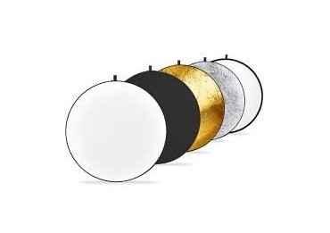 """Réflecteur de Lumière 110cm 43"""" 5 en 1 Pliable Doré Argent Noir Blanc Translucide Pour Studio Photo Vidéo Appareil Photo Ecla..."""