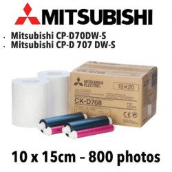 Papier 10X15cm - 800 vues Mitsubitchi CP-D70DW VENTE