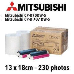 Papier 13X18cm - 230 vues Mitsubichi CP-D70DW VENTE