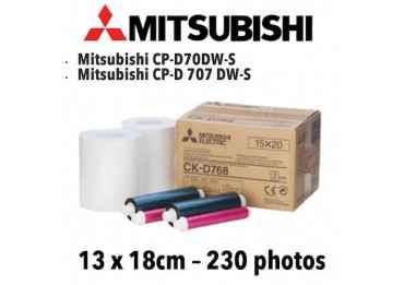 Papier 13X18cm - 230 vues Mitsubitchi CP-D70DW