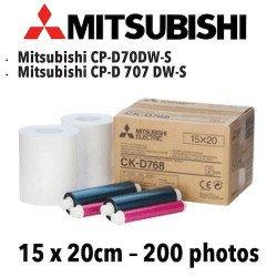 Papier 15X20cm - 200 vues Mitsubichi CP-D70DW VENTE