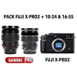 Pack Fuji X-Pro2 + Fuji 10-24mm + Fuji 16-55mm