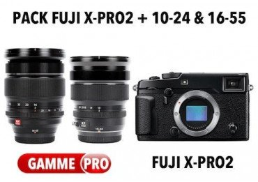 Pack Fuji X-Pro2 + 10-24 + 16-55