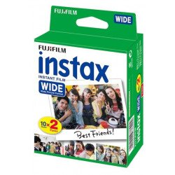 Papier photo Grand Format - 20 poses Wide - Fuji Film Instax Wide Film pour Fuji Instax