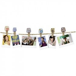 "Pack Guirlande Instax Design 10 Clips - ""Camera"" VENTE"