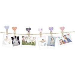"Pack Guirlande Instax Design 10 Clips ""Coeur"" Film pour Fuji Instax"