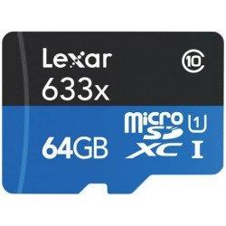 Carte Lexar microSDHC 64 GB Class 10