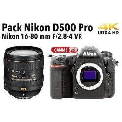 Pack Nikon D500 + objectif AF-S 16-80 mm f/2.8-4.0 VR
