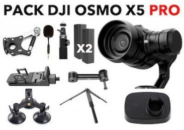 Pack Dji Osmo X5 Pro + Pack sport Osmo X3 & X5