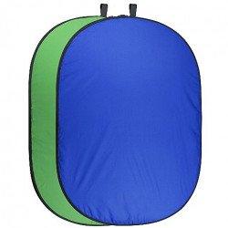 Fond Walimex Pliable Bleu & vert Fond pliant