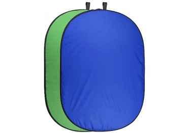 Fond vert & bleu pliable 150x210 cm