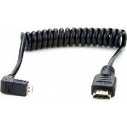 Câble Micro HDMI / HDMI coudé spirale 30 cm Câble et connectique pour reflex
