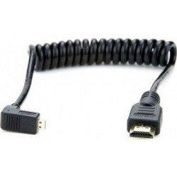 Câble Micro HDMI / Micro HDMI - Coudé spirale 30 cm Câble et connectique pour reflex