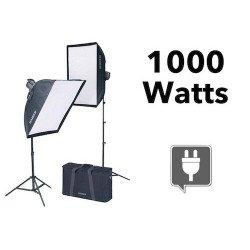 kit d'éclairage continu 1000 Watts + 2 Softbox - Kaiser 1010 - OCCASION Produits d'occasion