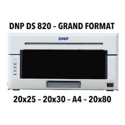 DNP DS820 Imprimante photo - Sublimation Thermique - 20x25, 20x30 & A4