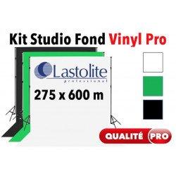 Kit Studio vinyl 2.75x6 m - Support + Fond Vinyl Lastolite (Blanc, Noir ou Vert) Kit studio complet