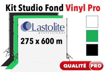Kit Studio vinyl 2.75x6 m - Support + Fond Vinyl Lastolite (Blanc, Noir ou Vert)