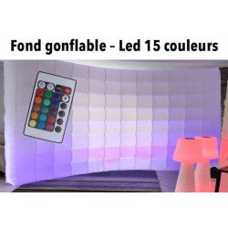 Mur gonflable lumineux à Led - 16 couleurs - Pour photobooth et photo studio Photo Box