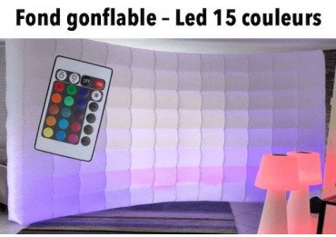 Mur gonflable luminieux à Led - 16 couleurs - Pour photobooth et photo studio Accessoire Photo Box