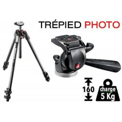 Trépied Photo Manfrotto 290 + Rotule 3D - Carbonne
