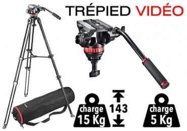 Trépied vidéo + Tête fluide Manfrotto MVK502AM-1 Accueil