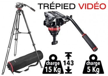 Trépied vidéo + Tête fluide Manfrotto MVK502AM-1