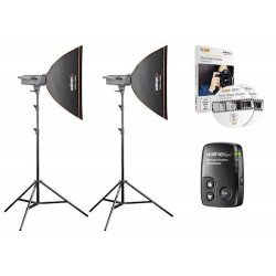 Kit Fash Studio Excellence 400 watts Artist - Walimex Pro Flash Studio