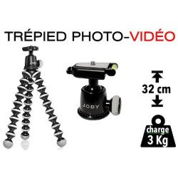 Trépied Multi-fonction Gorillapod SLR Zoom GP-3 + rotule JOBY BH1 Trépied Photo