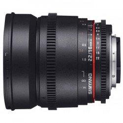 Samyang 16mm T2.2 V-DSLR ED AS UMC Vidéo - CSII Canon Samyang-Canon