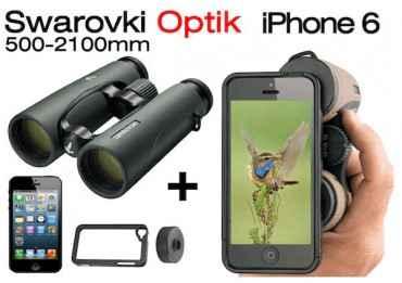 Jumelles Swarovski EL 10x42 + Kit Photo pour iphone 6 Optique Swarovski