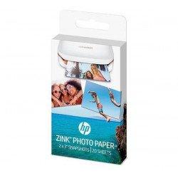 Papier photo 20 poses HP ZINK - Papier photo auto-adhésif pour imprimante HP Sprocket-