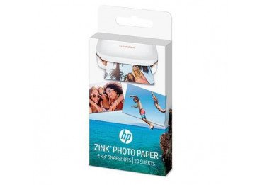 HP ZINK Sticky-Backed Photo Paper - Papier photo - auto-adhésif - finition brillante - 50 x 76 mm - 290 g/m² - 20 feuille(s) - p