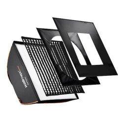 Softbox carrée 60x60cm walimex pro + Diffuseurs et Nid d'abeille Softbox Flash