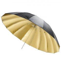 Parapluie noir / or, 150cm - Walimex Reflex Parapluie