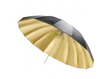 Parapluie noir / or, 150cm - Walimex Reflex