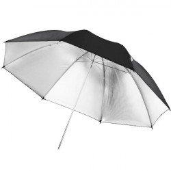 Parapluie noir / argent, 84cm - Walimex Reflex Parapluie