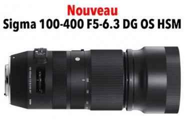 Sigma 100-400 mm f/5-6.3 DG OS HSM Contemporary - Monture Nikon Téléobjectif