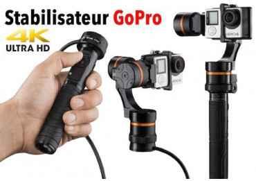 Stabilisateur GoPro - Waver pro Gimbal 3 axes Stabilisateur Motorisé