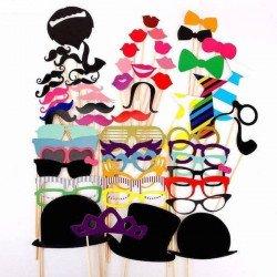 Kit de déguisement festif avec accessoires (Déguisement pour Photobooth) VENTE